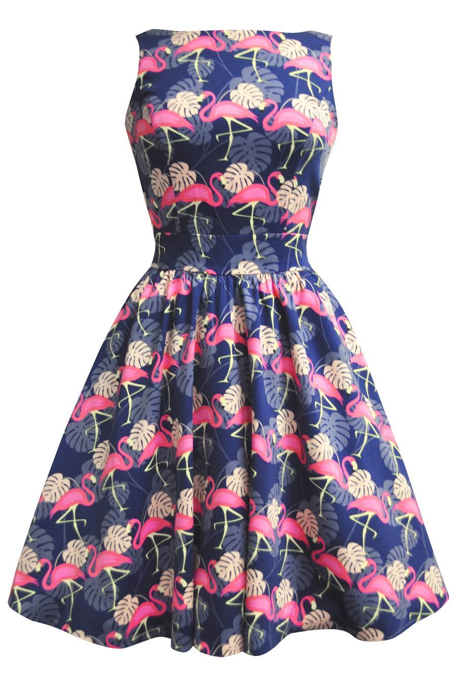 Flamingo Tea Dress Elsie S Attic