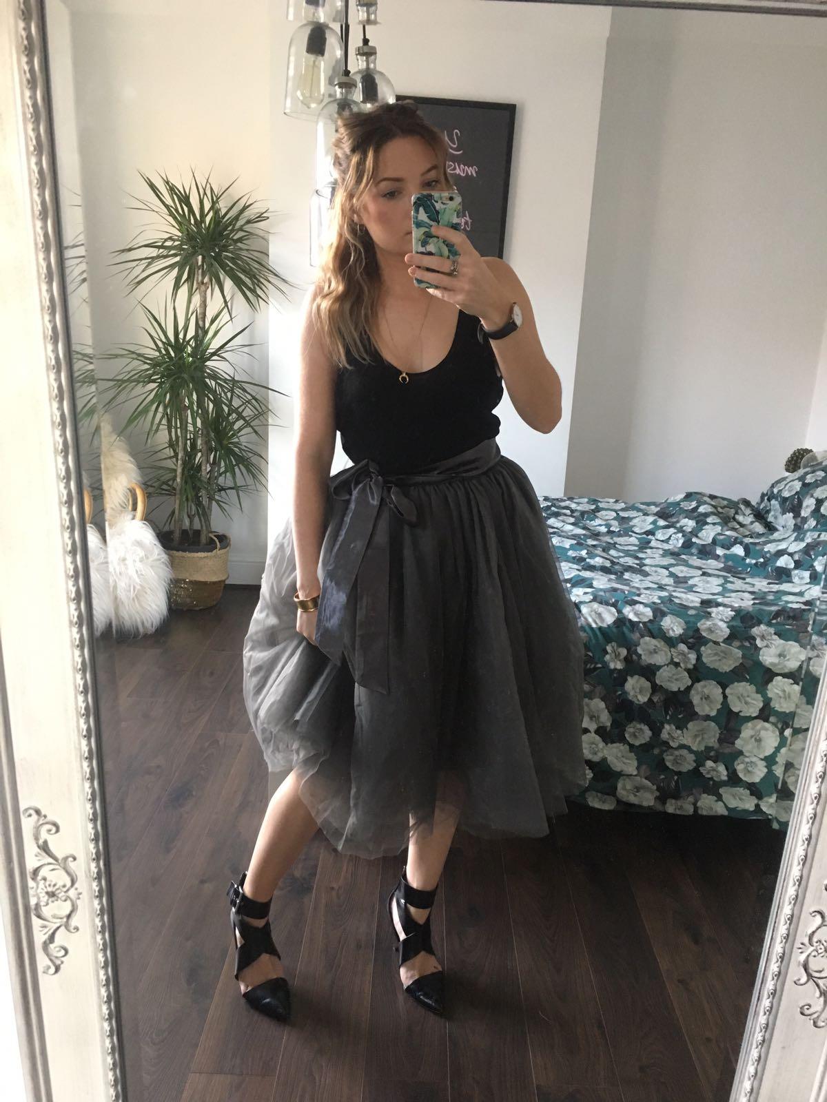 Charcoal Midi Tulle Tutu Skirt Elsie S Attic