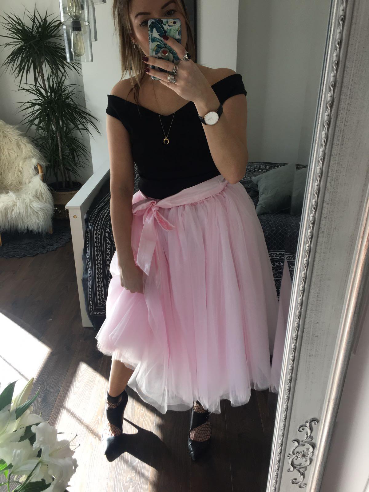 Baby Pink Midi Tulle Skirt Elsie S Attic