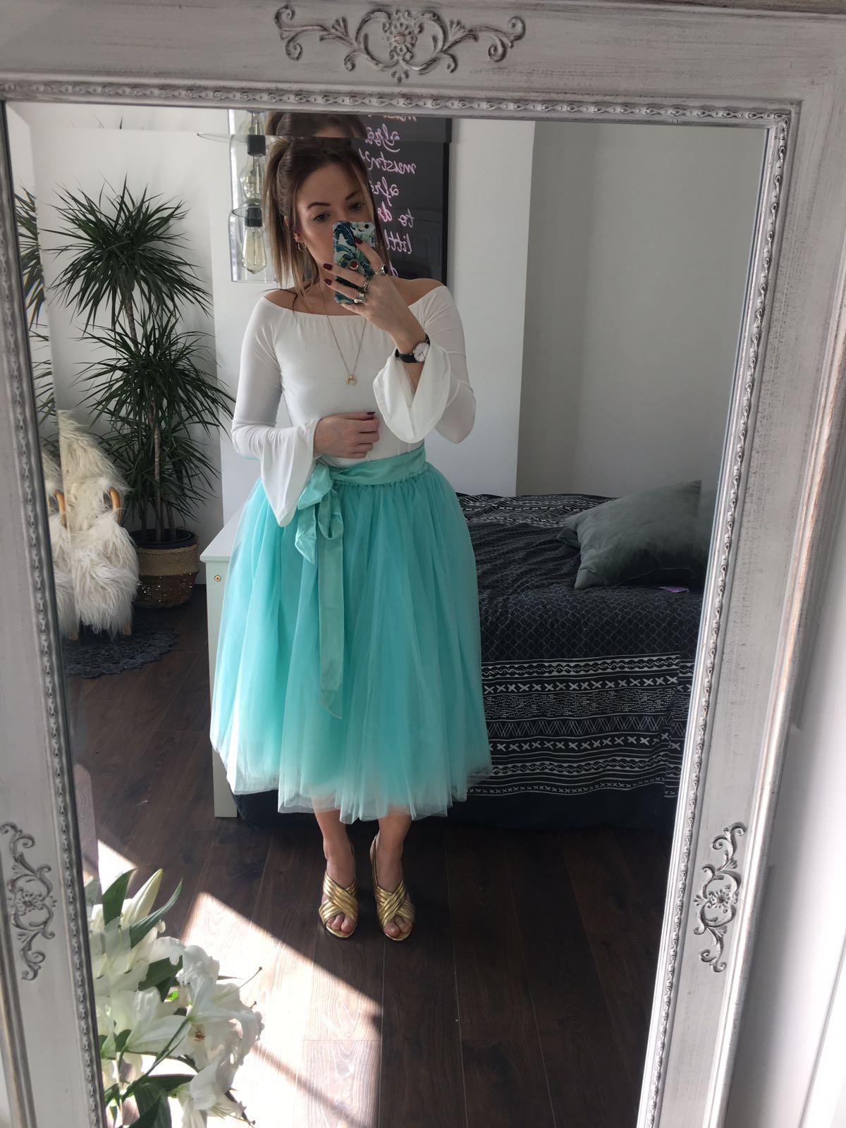 Sea Foam Green Midi Tulle Tutu Skirt - Elsie\'s Attic