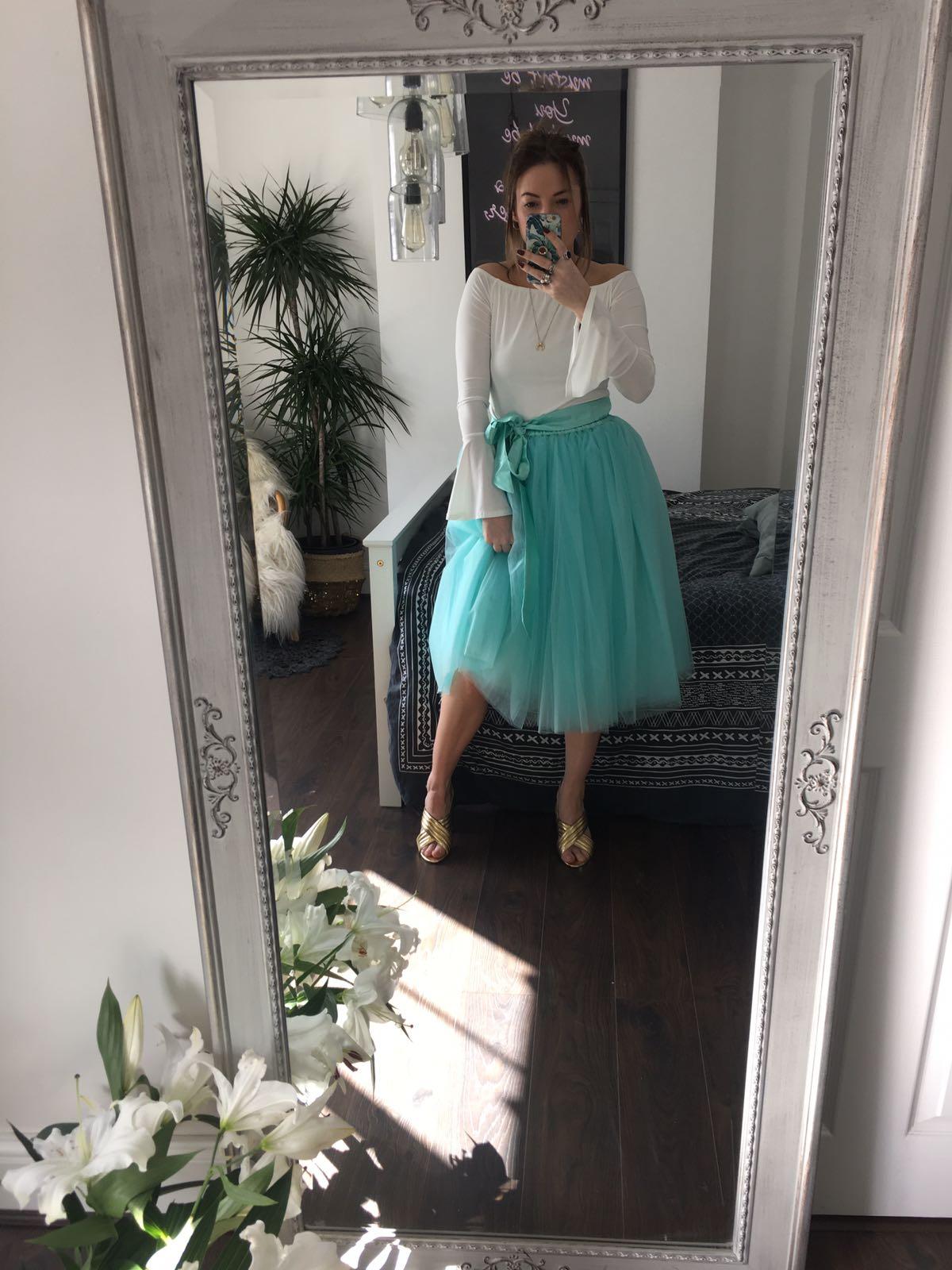 Sea Foam Green Midi Tulle Skirt Elsie S Attic