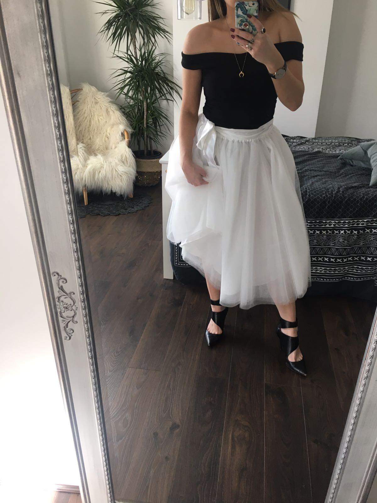 d50e8508aef White Midi Tulle Skirt - Elsie s Attic