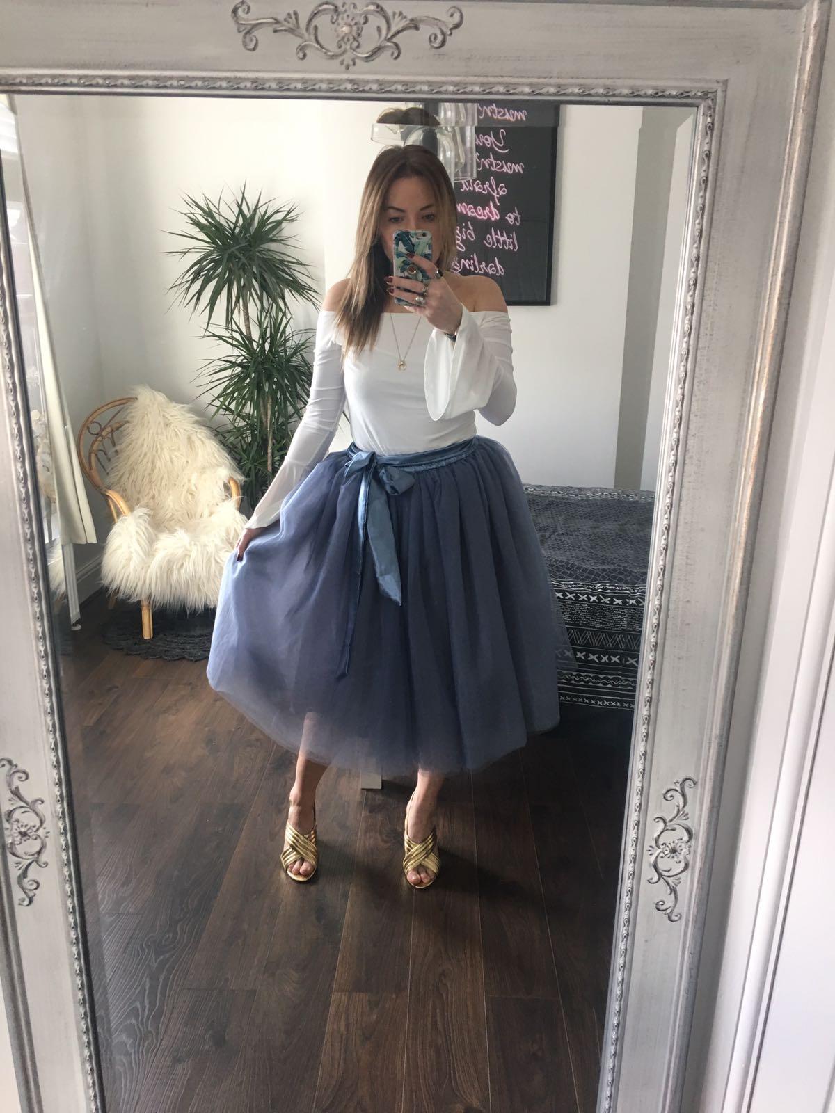 Lavender Grey Midi Tulle Tutu Skirt Elsie S Attic