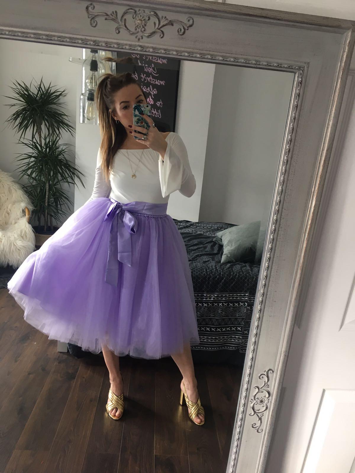 Lilac Midi Tulle Skirt Elsie S Attic