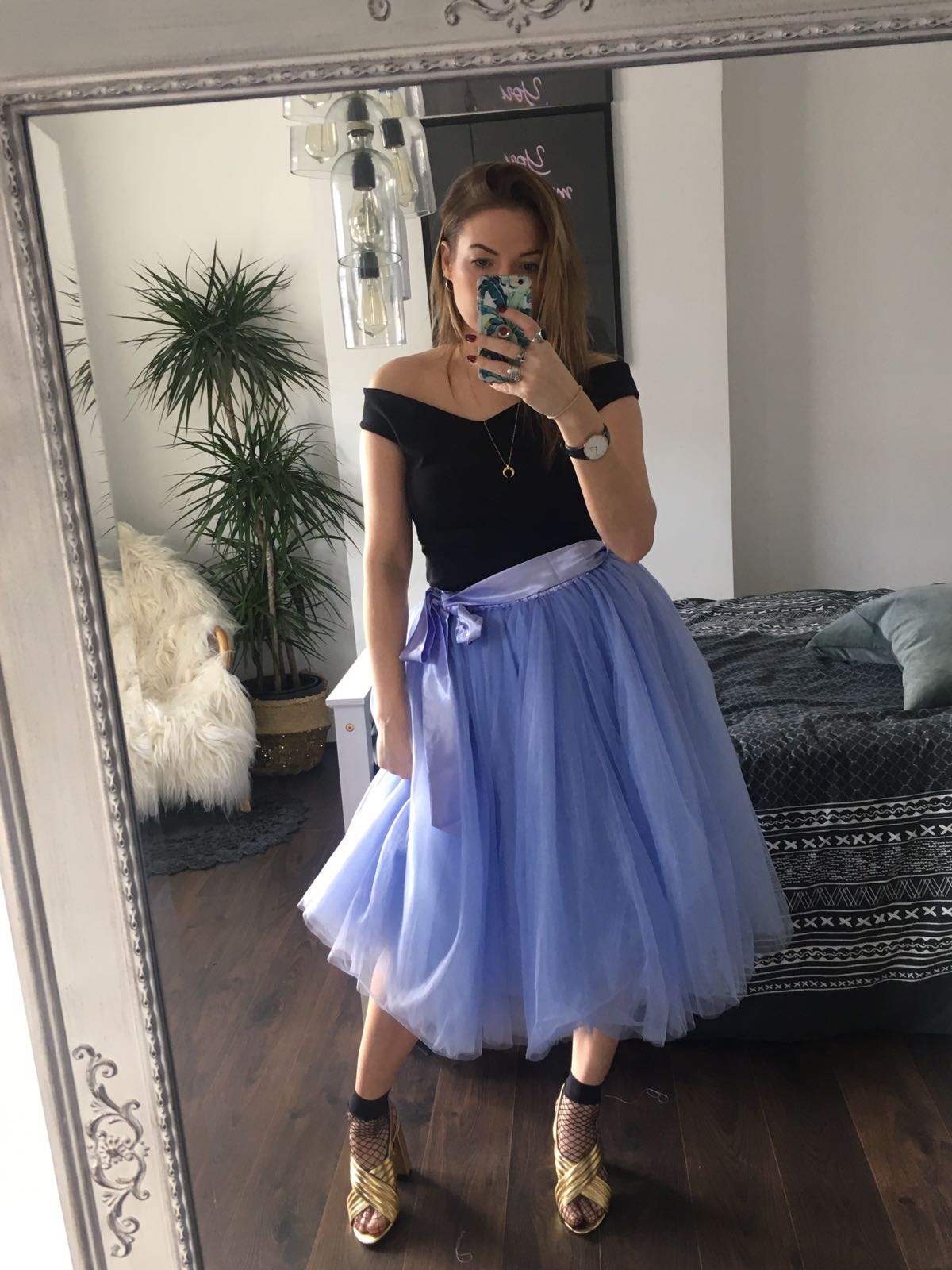 3dfa4e594 Lavender Midi Tulle Tutu Skirt - Elsie's Attic