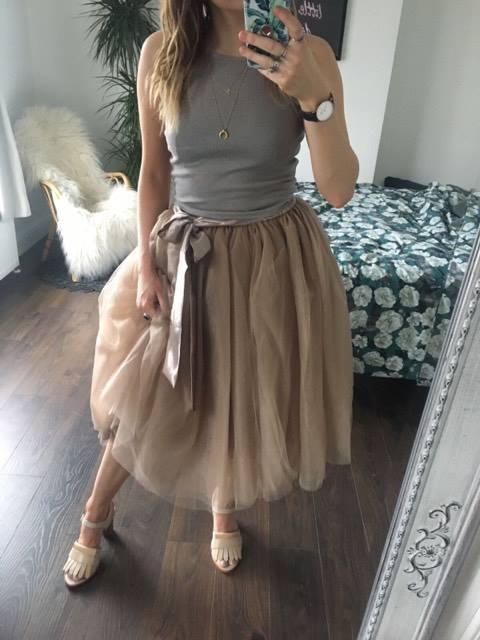 1b10b9162 Mink Midi Tulle Tutu Skirt - Elsie's Attic