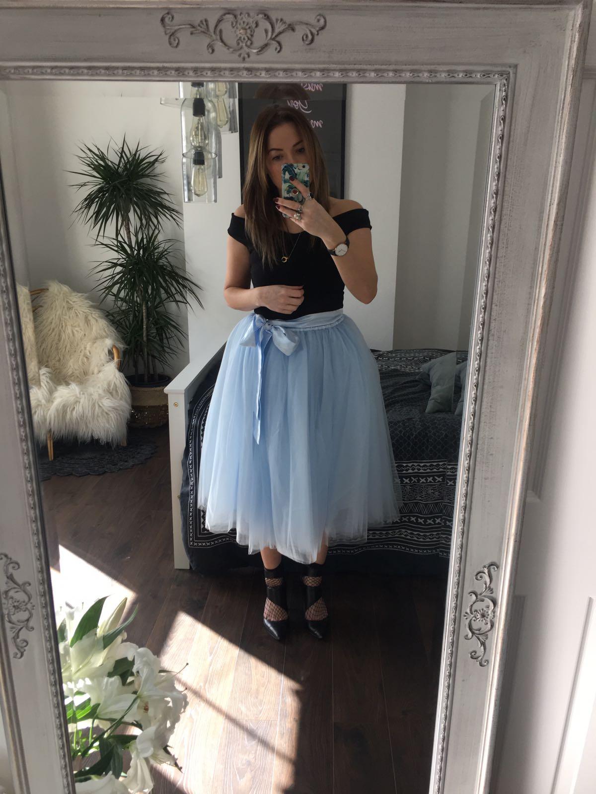 b5a3401a1 Baby Blue Midi Tulle Tutu Skirt - Elsie's Attic