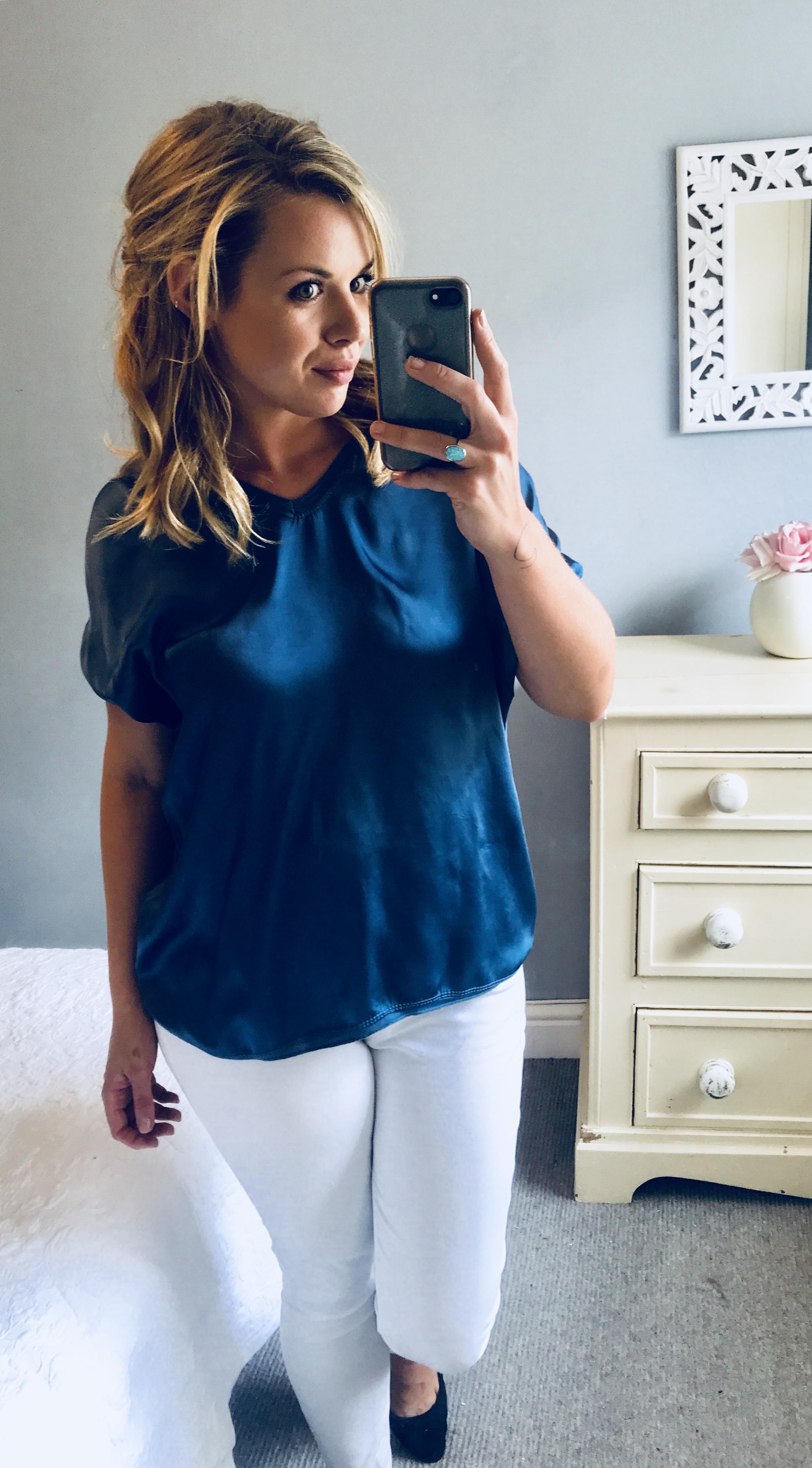 fac01616fe2 Grey Plunge Jumpsuit Size 6 - Elsie s Attic