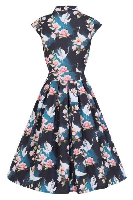b5de55fc507c2 Birds of Paradise Vintage Inspired Dress - SIZE 20 - Elsie s Attic